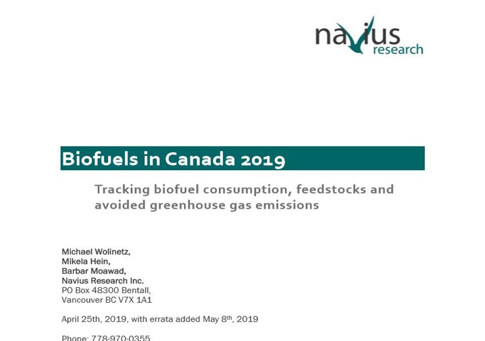 El uso de biocombustibles en Canadá ha evitado contaminación